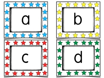 Alphabet Cards with Beginning Letter Sound Cards plus Letter Stamping Pages