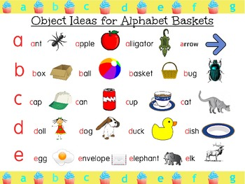 Alphabet Cards with Beginning Letter Sound by The Little