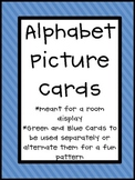 Alphabet Cards with Blue, Green, Yellow, and Red backgrounds