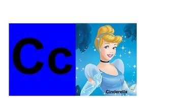 Alphabet Cards with Disney Characters