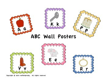 Alphabet Cards with Scalloped Boarders
