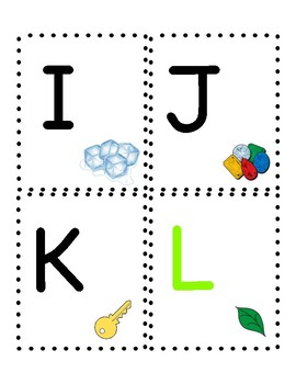 Alphabet Cards with Supports