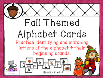 Alphabet Cards with a Fall Theme