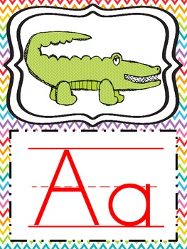 Alphabet Cards with lines
