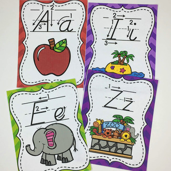 Alphabet Posters-D'Nealian Style- With and Without arrows