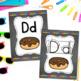 Alphabet Cards(Primary Print) Chalkboard Style