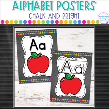Chalk and Bright Alphabet Cards- With and Without Arrows