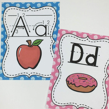 Alphabet Cards Primary Print- With and Without Arrows