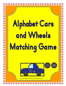 Alphabet Cars and Wheels Matching Game