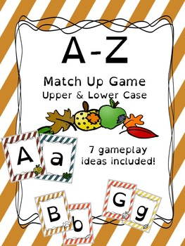 Alphabet Case Matching Card Game or Classroom Banner