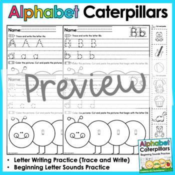 Alphabet Caterpillars (Beginning Sounds Practice)