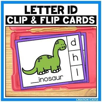 Alphabet Letter Identification Clip Cards Center