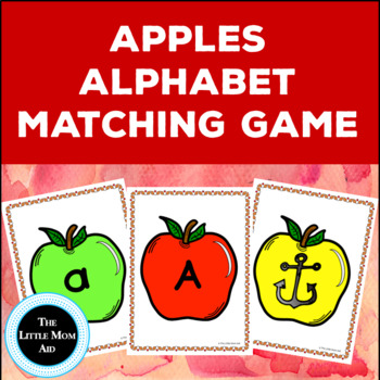 FREE Alphabet Center: Apples Alphabet Matching Game