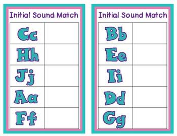 Alphabet Center:  Beginning Sound Center