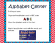 Alphabet Center / Centro del Abecedario - Dual Language - English & Spanish