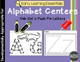 Alphabet Center Dab Dot and Push Pin Letters