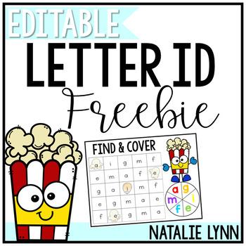 Alphabet Center: FREE Editable Letter ID Center