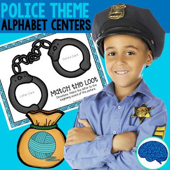 Alphabet Center Games: Arrest the Alphabet