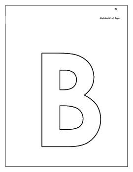 Alphabet Center Ideas Packet