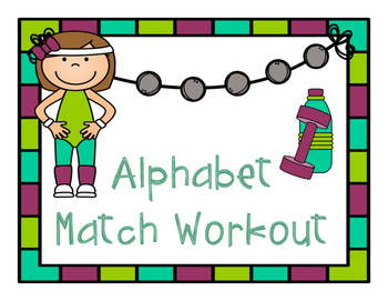 Alphabet Center Match Back to School Exercise