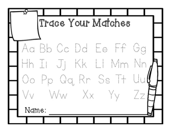 Alphabet Center Match Back to School Theme Post Its