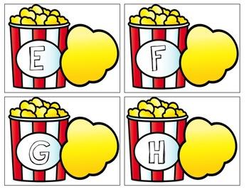 Popcorn Alphabet Task Box