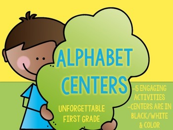 Alphabet Centers {5 Engaging Activities}