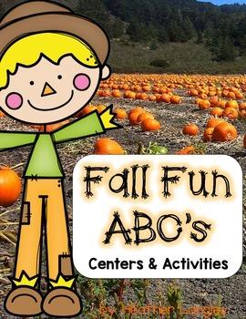 Alphabet Centers ABC Fall Fun