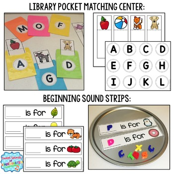 Alphabet Centers {Alphabet Matching and Beginning Sound Practice}