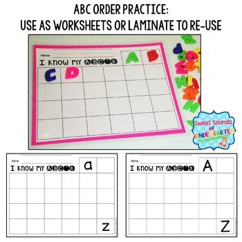 Alphabet Centers {Alphabet Matching and Beginning Sound Practice}