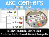 Alphabet Centers -Beginning Sound Strips Only! Custom Listing