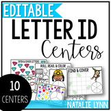 Alphabet Centers: Editable Letter ID Centers