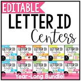 Alphabet Centers: Editable Letter ID Centers Growing Bundle