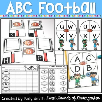 Alphabet Centers {FOOTBALL Centers} Letter Matching