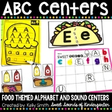 Alphabet Centers Food Themed {Alphabet Matching and Beginning Sound Practice}