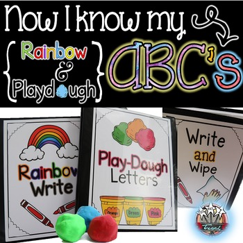 Playdough Word Work, Rainbow Write, and Write and Wipe