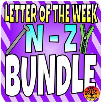 Alphabet Letter Of The Week Bundle, Letters N to Z, Litera