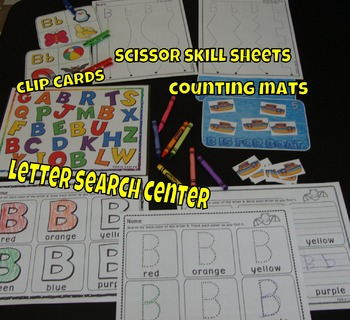 Alphabet Centers Letter Of The Week, Letter E, Literacy, Math