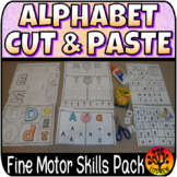 Alphabet Centers No Prep Activities Cut Paste Glue Collage Beginning Sounds