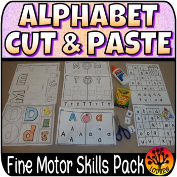 Alphabet Centers No Prep Activities Cut Paste Glue Collage Beginning Sounds