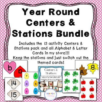 Alphabet and Number Centers and Activities Bundle