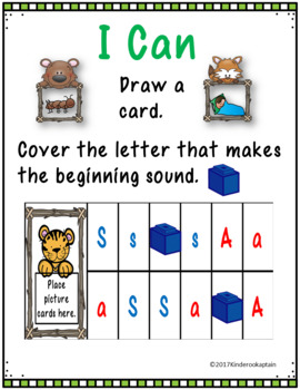 Alphabet Centers and Activities Letters M S T A