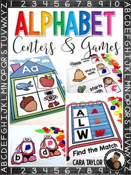 Alphabet Centers and Games