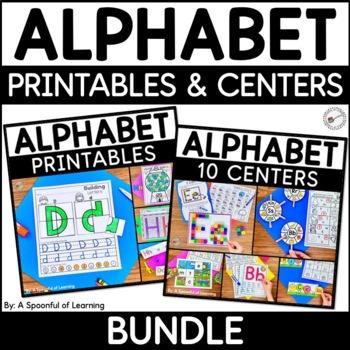 Alphabet Centers and Printables MEGA BUNDLE