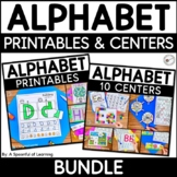 Alphabet Centers and Printables MEGA BUNDLE