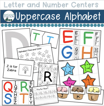 Alphabet Centers for Early Childhood or Special Education (Uppercase)