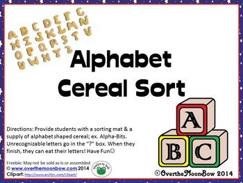 Alphabet Cereal Sorting Mat