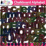 Chalkboard Alphabet Clip Art {Great Back to School Classro