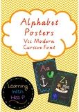 Alphabet Chalkboard Posters