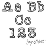 Clip Art: Alphabet - Chalkboard and Chalk Clip Art Letters